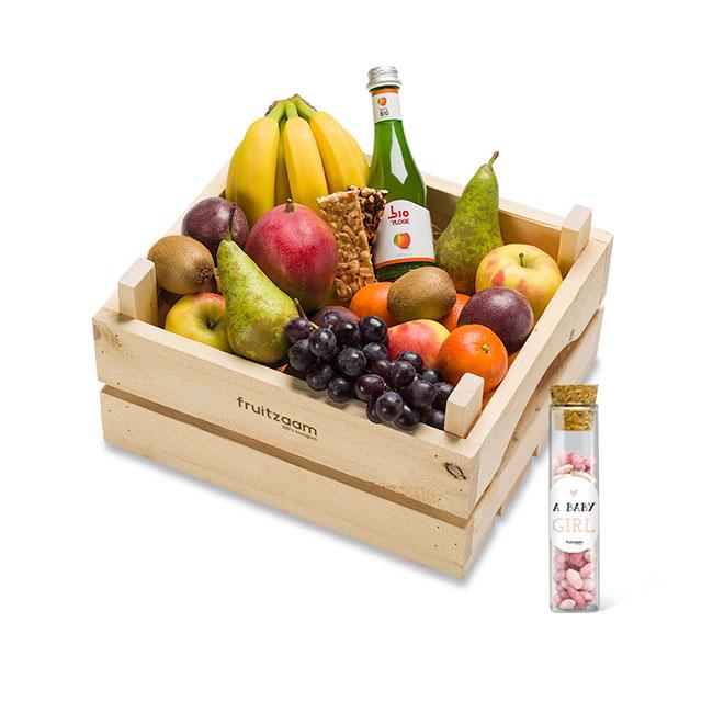 Fruitkist de luxe geboorte